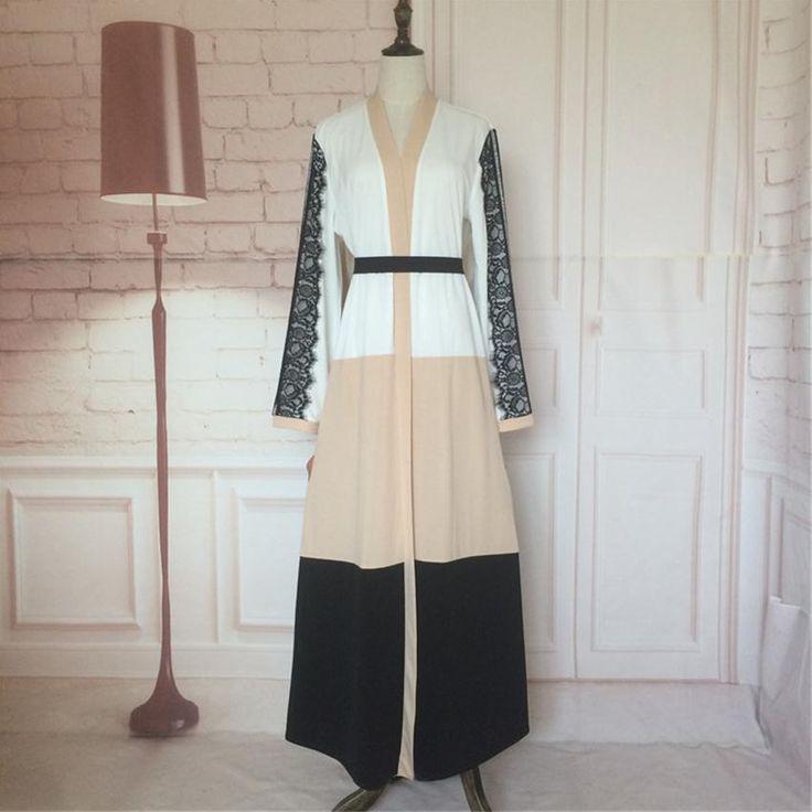 공장 콘센트 2017 성인 캐주얼 가운 레이스 Musulmane 터키어 아바야 새로운 이슬람 드레스 가운 아랍 예배 서비스 W1223