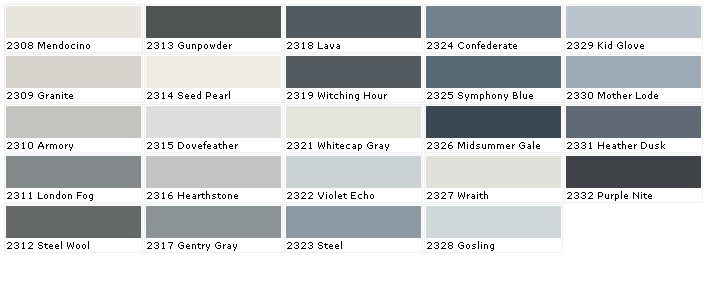 Pratt And Lambert Colors  House Paint Color  Chart Chip Sample