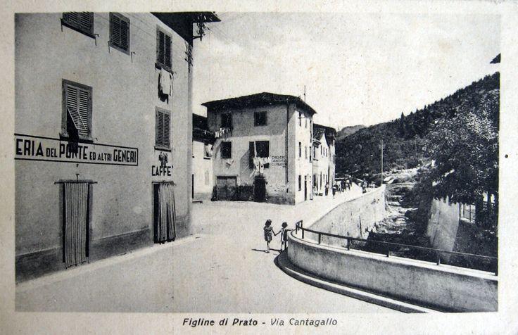 Figline di Prato, cartolina probabilmente degli anni '30-40.