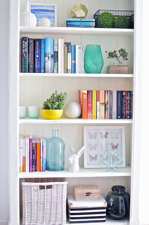 UHeart Organizing: Bookshelf Styling Tips | IHeart Organizing | Bloglovin'