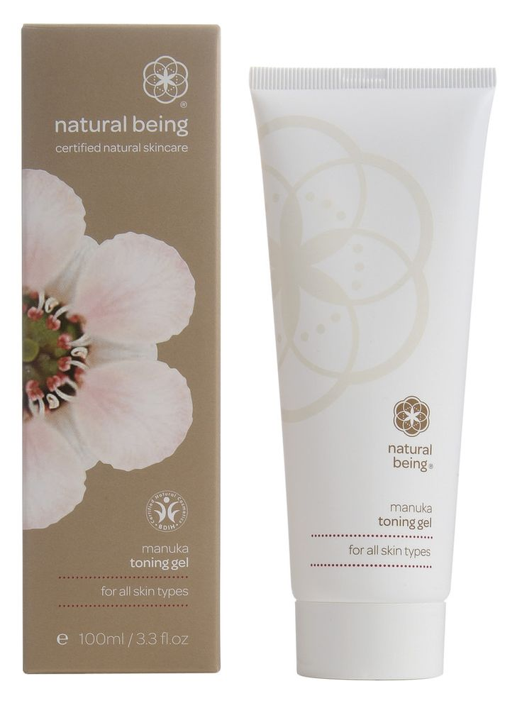 Natural Being Manuka Toning Gel for all skin types for Teens. With manuka honey, manuka oil and glycerin.