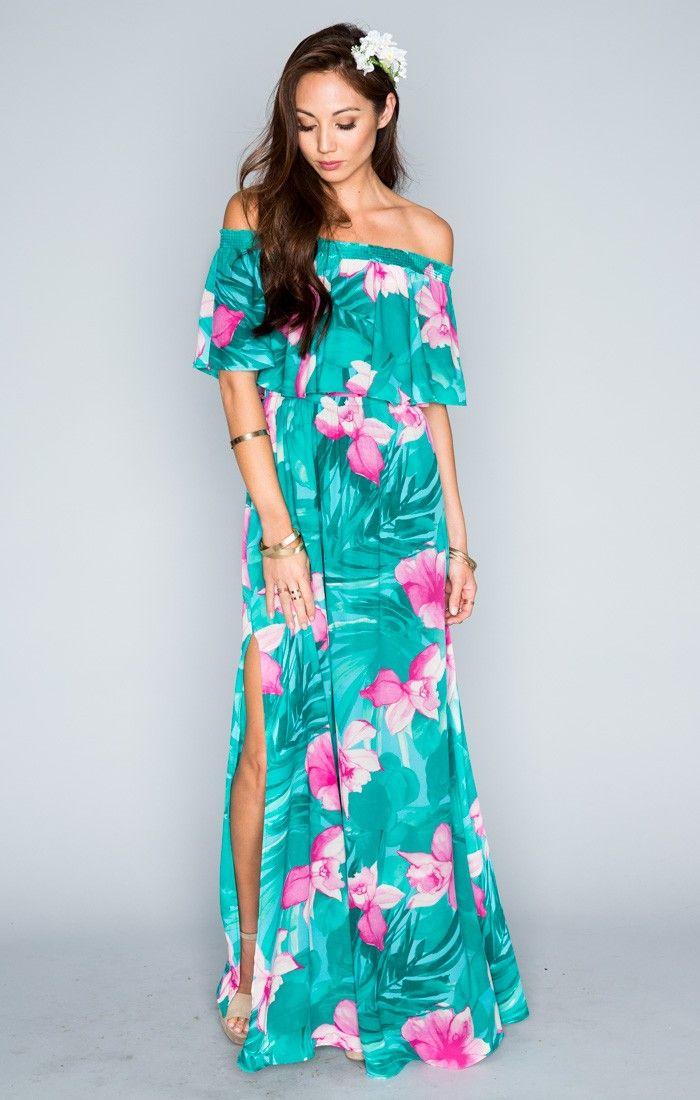 Hacienda Maxi Dress Lei Bay Show Me Your Mumu Luau