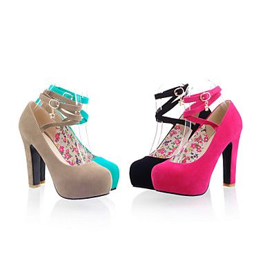 Women's Shoes Chunky Heel Round Toe Pumps Dress Shoes More Colors Available – USD $ 34.99