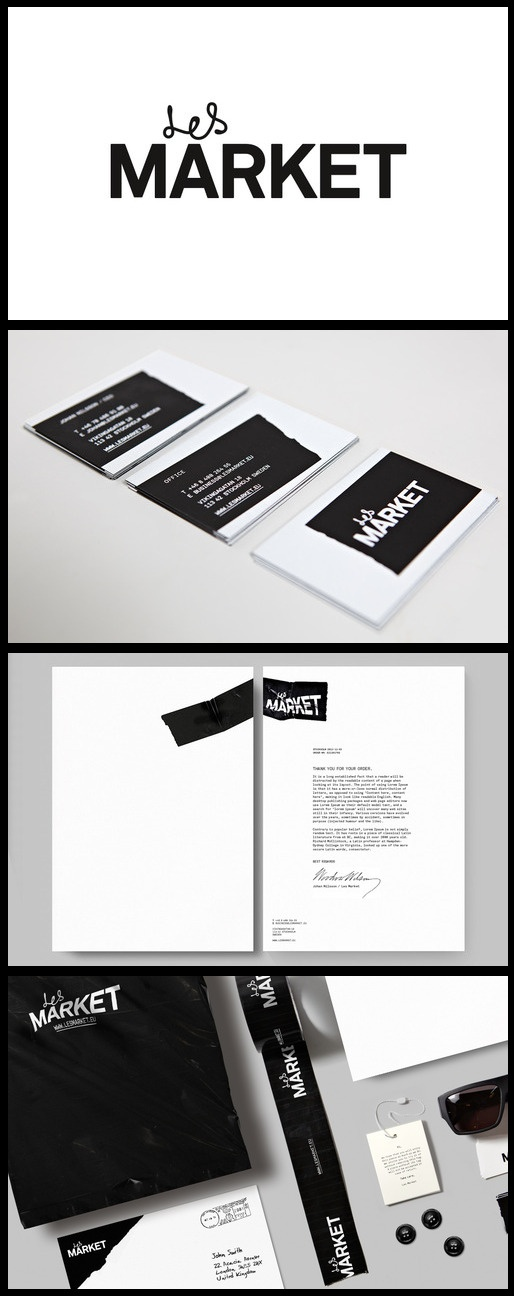 Like the simplicity of the two diff fonts - Les Market identity
