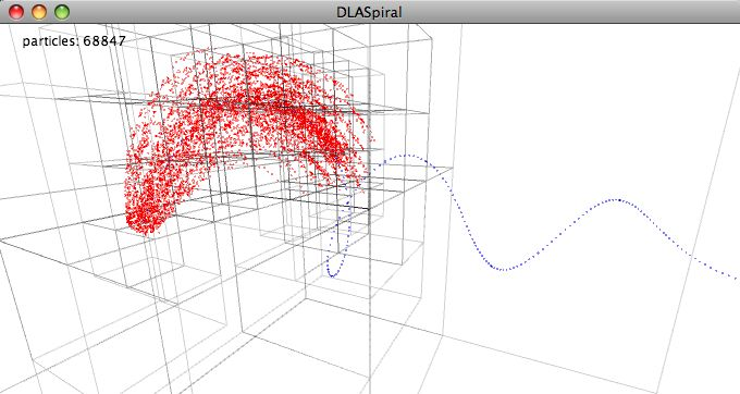 simutils-0001: Diffusion limited aggregation