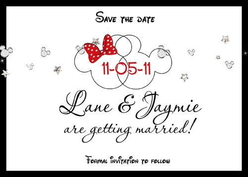 Disney Mickey Minnie Save the Date Wedding engagment Party invitations on Etsy, £12.18