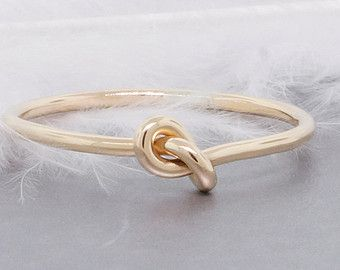 Forget-me-knot ring 14k gold ring love knot ring by TDNCreations