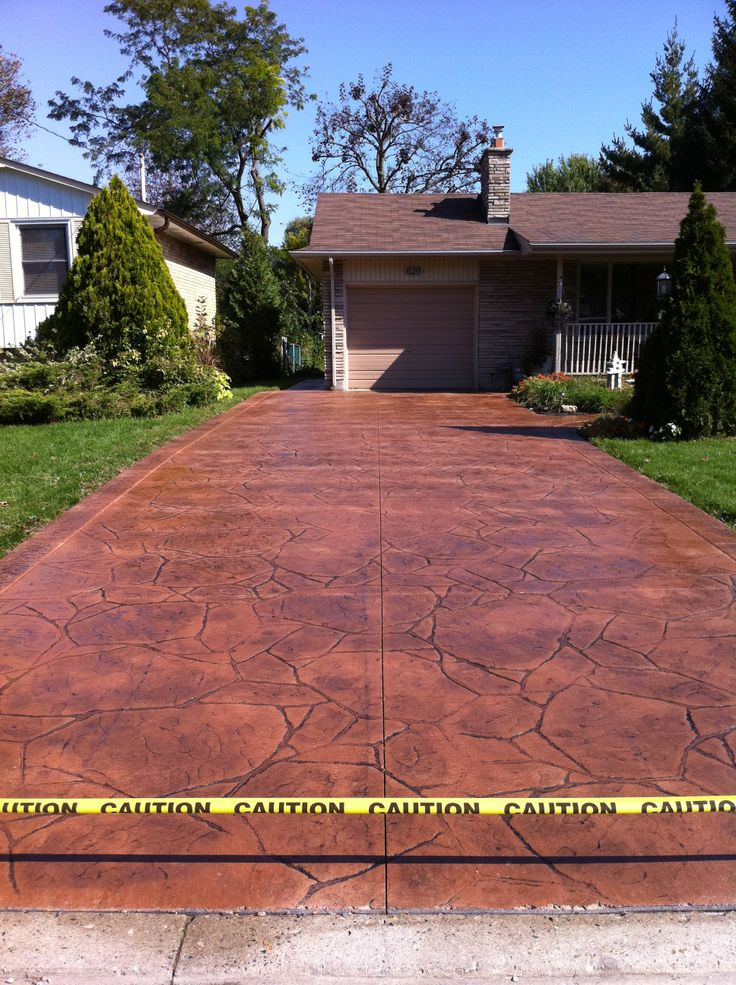 Stamped Concrete Driveways : Best images about driveway ideas on pinterest ontario