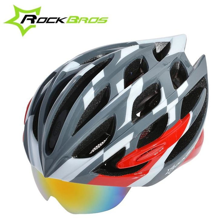 (41.99$)  Know more - http://aifoj.worlditems.win/all/product.php?id=32569343773 - ROCKBROS Ultralight Cycling Helmet Casco Ciclismo Casco MTB Bike Helmet & Integrally molded glasses Special helmet & 3 Lenses