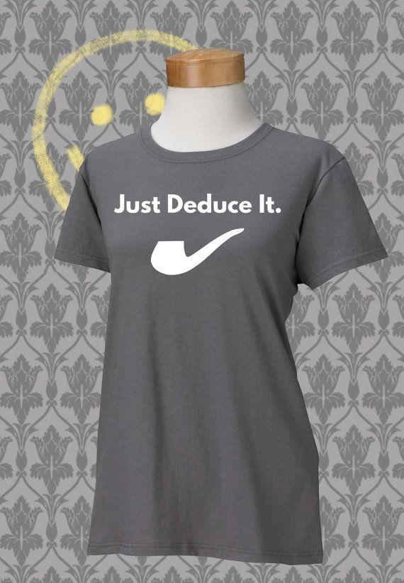 Sherlock - nur folgern es - Damen-T-Shirt - grau--großes Geschenk für ein…