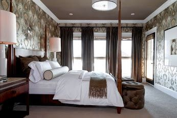 Black Elegant Curtains in Contemporary Bedroom Design http://www.urbanhomez.com/decors/bedroom Get Latest Designs & Decor Ideas for your Home at http://www.urbanhomez.com/decor Get hundreds of Designs for the Interiors of your Home at http://www.urbanhomez.com/photoshttp://www.urbanhomez.com/construction/wash_basin_and_toilet_seats http://www.urbanhomez.com/suppliers/architects/pune http://www.urbanhomez.com/suppliers/architects/chennai