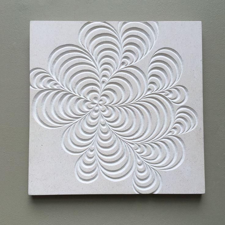'Swirls'  Hand carved on Portland Limestone   By Zoe Wilson