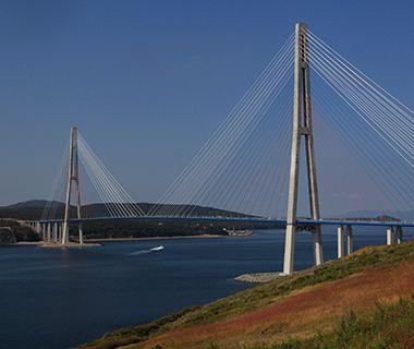 World's Longest Bridges: Longest Cable-Stayed bridge span  :  Russky Bridge  :  Vladivostok,Russia