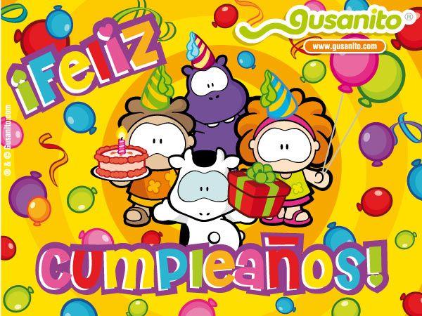 Tarjetas Cumpleaños Gratis  Gusanito> Tarjetas Gusanito> Tarjetas Gusanito de Cumpleanos
