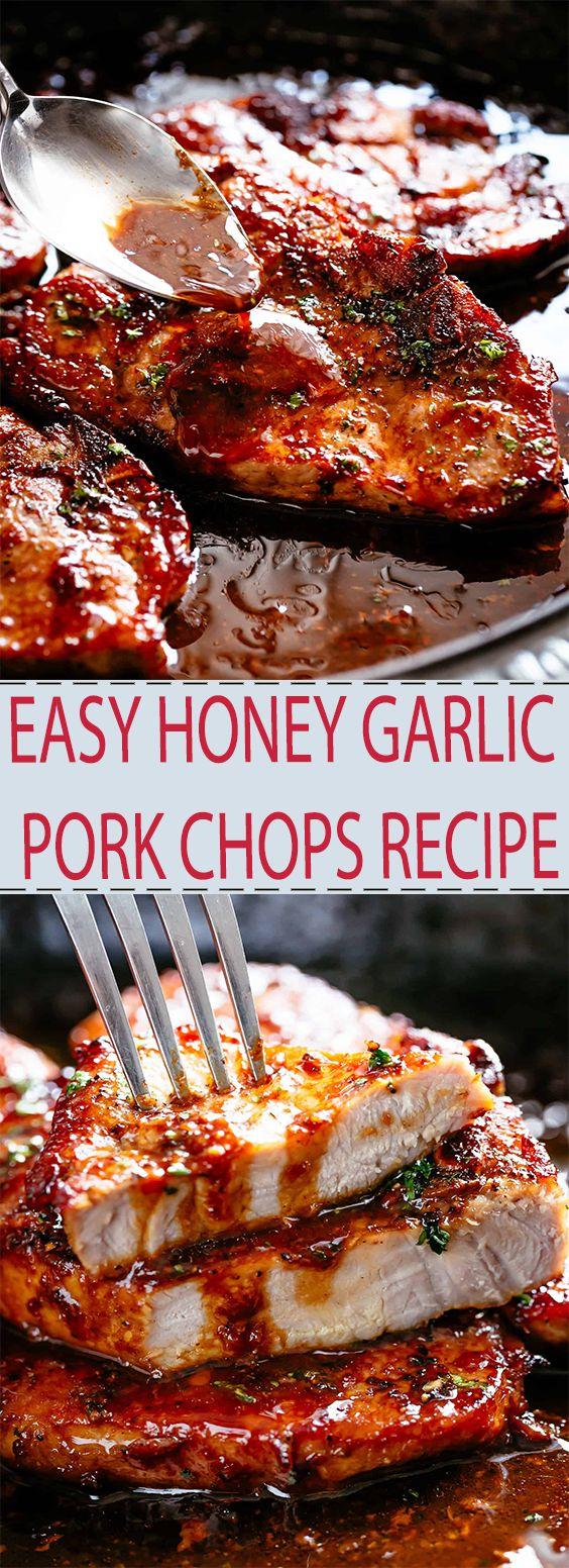 EASY HONEY GARLIC PORK CHOPS RECIPE