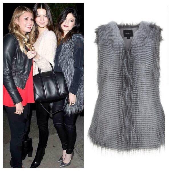 Kylie Jenner wearing Unreal Fur