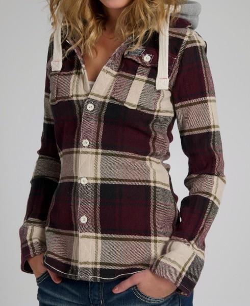 Womens superdry lumberjack hoodie jacket