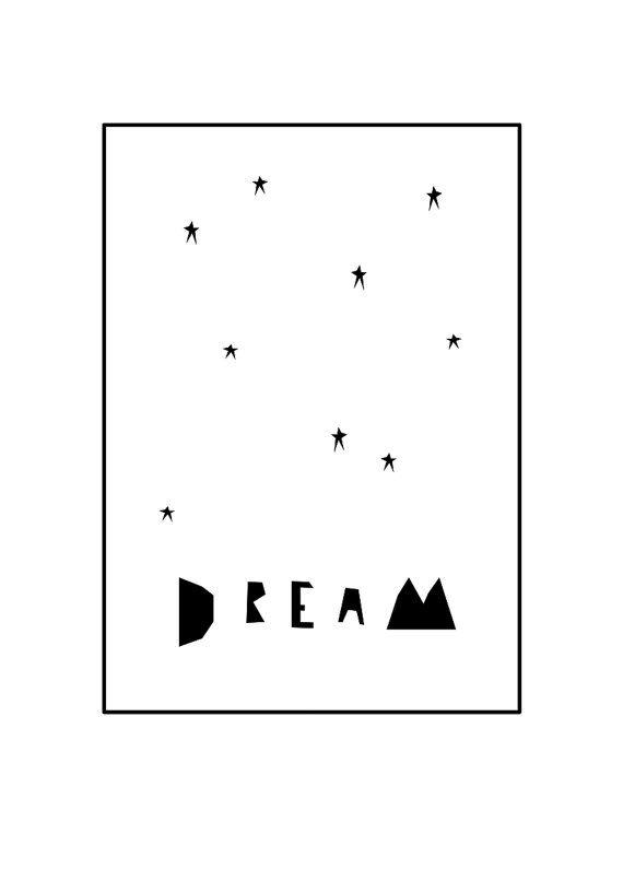Dream Print van IngridPetrieDesign op Etsy