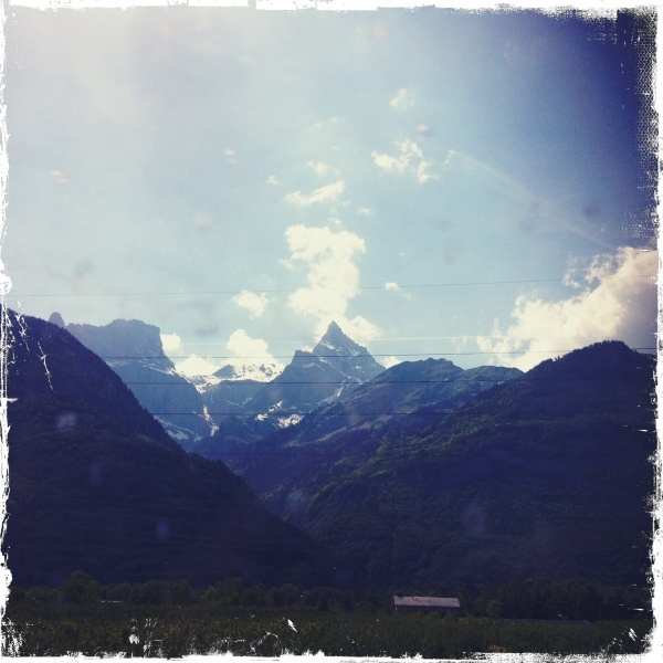 The southern Alps of Switzerland