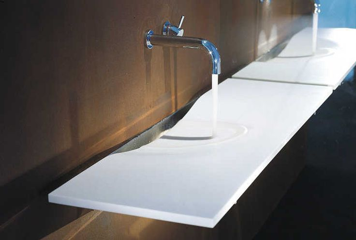 Corian 174 Colour Glacier White Application Washplane