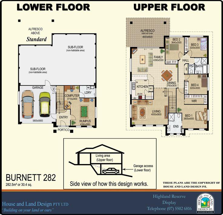 Designssplitlevelburnett282floorplanews House And Land Design Split Level House Plans