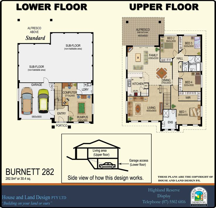 Designs split house and land design houses upward slope for Split level acreage home designs