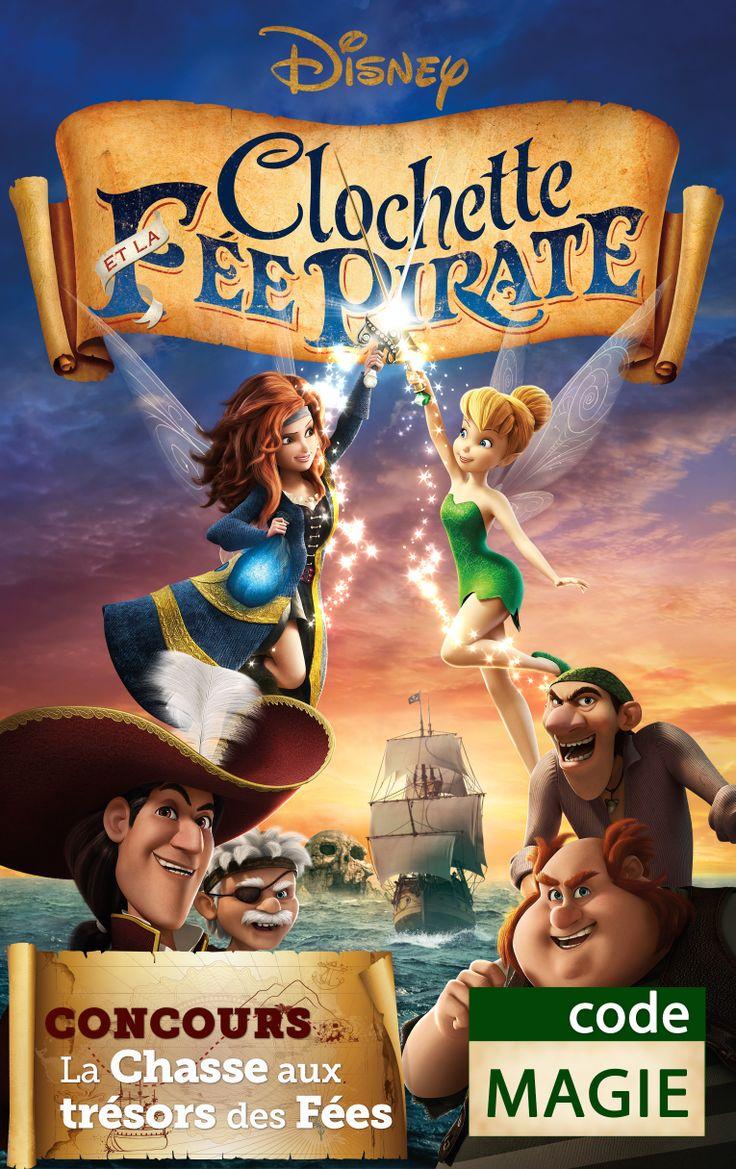 D couvrez l 39 affiche de clochette et la f e pirate utilisez ce code pour le concours clochette - Fee clochette et les pirates ...