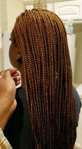 Small Box Braids Hair verwendet 6 Packungen Bobby Boss Clients Haar ist in einem Pixie Cut-Stil geschnitten, so dass dieser Stil kein voller Kopf ist, aber es ist geflochten, um ...