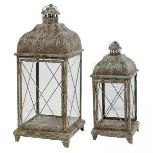 Aged Patina Lanterns  Extra Large