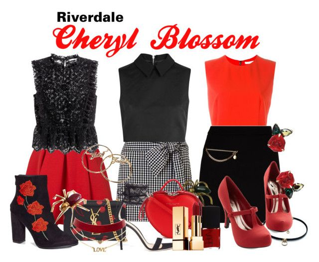 Cheryl Blossom Riverdale by sparkle1277 on Polyvore featuring polyvore and arte