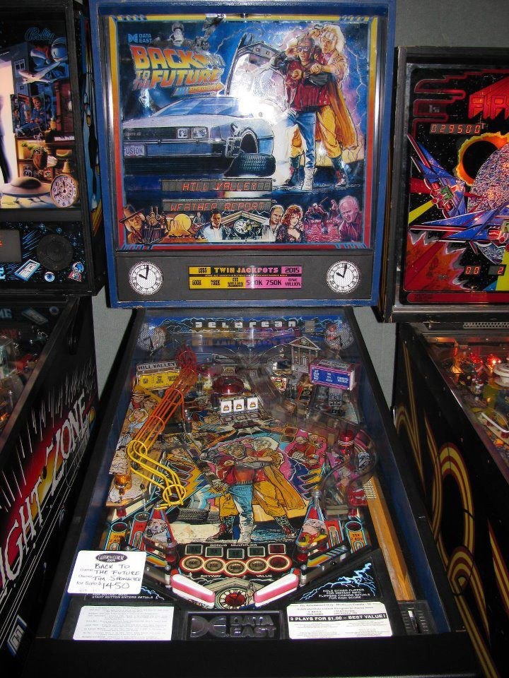 Sentimental value! Back to the Future Pinball Machine