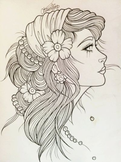 "Gypsy Girl Tattoo Sketch ""I want to rock your gypsy soul"" Van Morrison- Into the Mystic"
