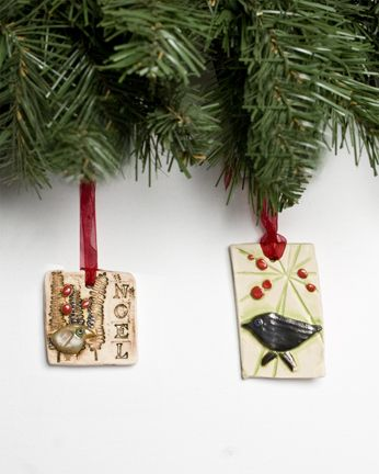 Christmas ornaments Jill Nuckles (Calgary, AB). Member of the Alberta Craft Council