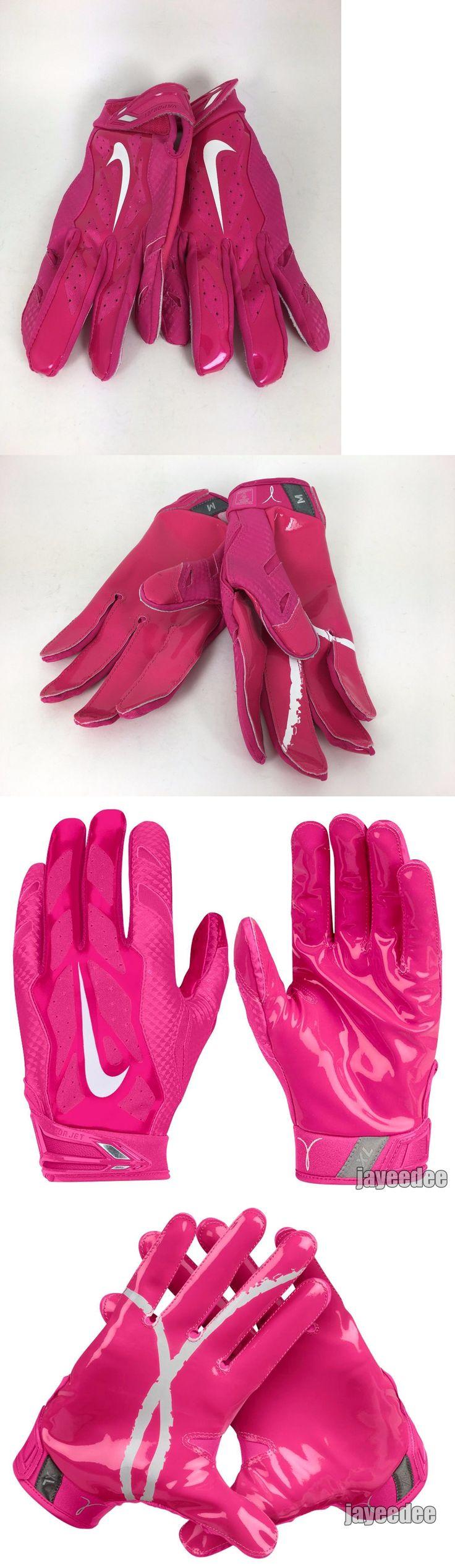Gloves 159114: Nike Adult Vapor Jet 3.0 Football Gloves Pink Bca Sz Medium M (Gf0497-652) -> BUY IT NOW ONLY: $37.97 on eBay!