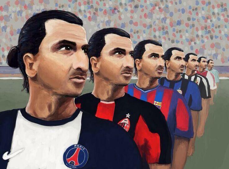 La carrera de Zlatan Ibrahimovic en una imagen. PSG, Milan, Barcelona, Inter, Juventus, Ajax y Malmö.