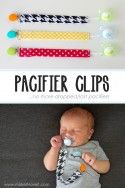 DIY Pacifier Clips...no more dropped/lost pacifiers! --- Make It and Love It
