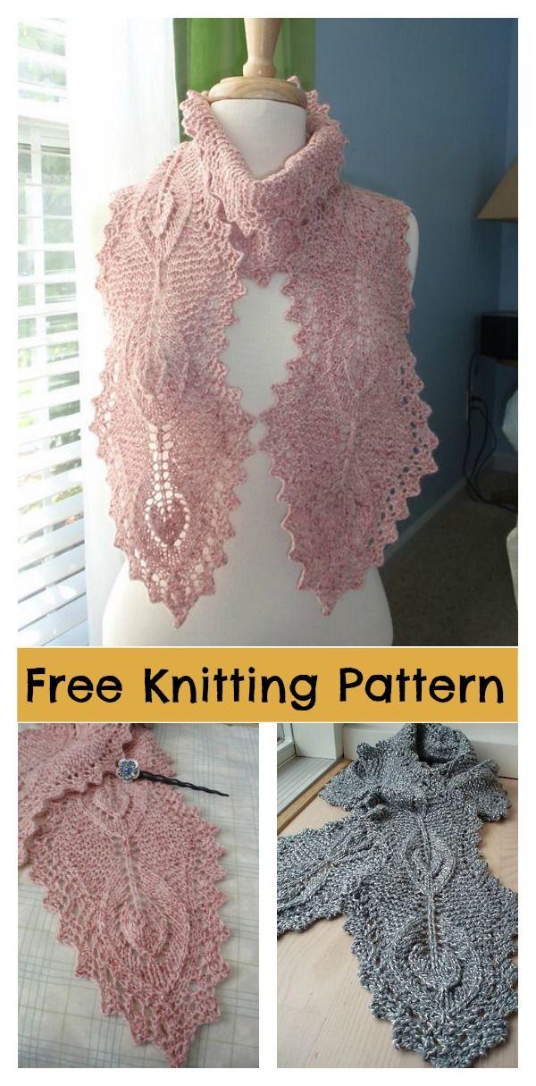 Lamina Lace Scarf Free Knitting Pattern Knitting Patterns