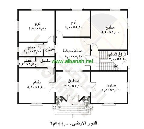 اريد تصميم منزل مساحته 120م 20x40 House Plans Home Map Design House Map