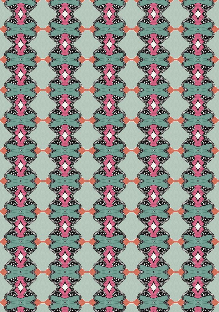 Natalia Segerman original illustrations - Fox Pattern