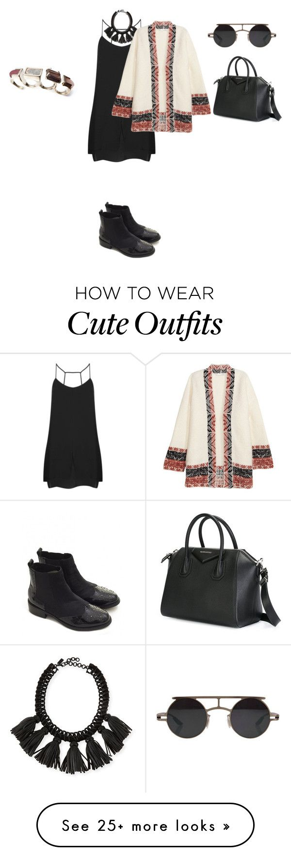 """""""Untitled #751"""" by elenekhurtsilava on Polyvore featuring Topshop, Cocoa, H&M, Retrò, Givenchy, Moda In Pelle, cutecardigan and springlayers"""