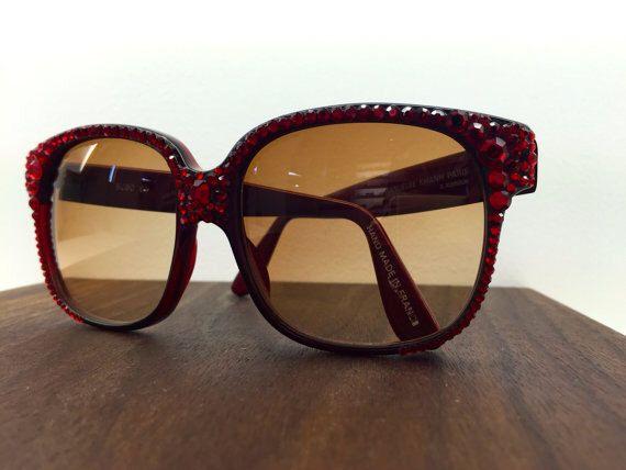 1980's vintage Emmanuelle Khanh hand studded sunglasses by blackandbluevintage on Etsy https://www.etsy.com/listing/223827395/1980s-vintage-emmanuelle-khanh-hand