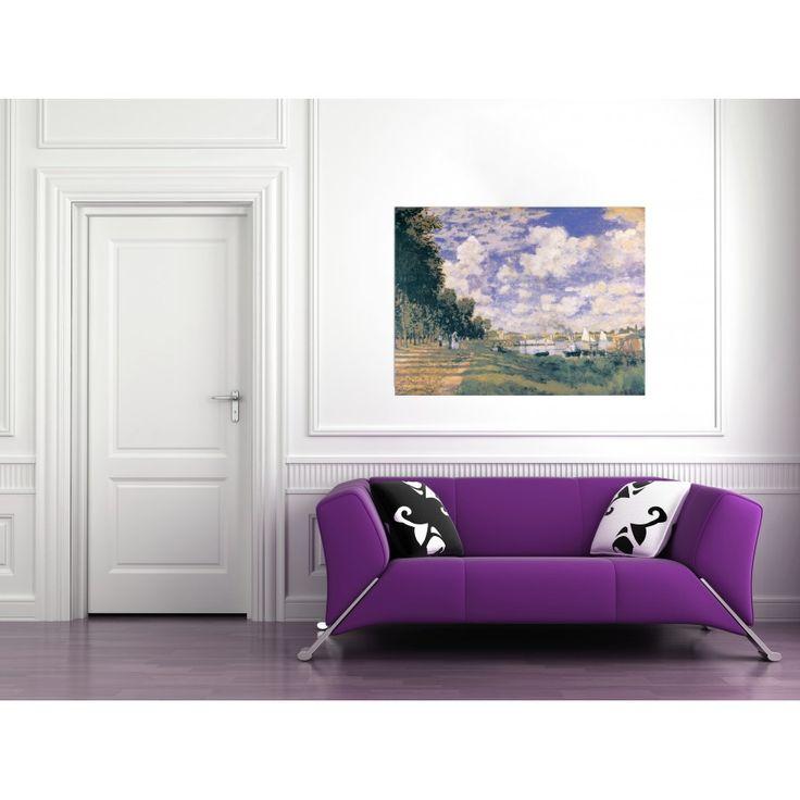 MONET - LE BASSIN D'ARGENTEUIL 140x105 cm #artprints #interior #design #art #prints #Monet  Scopri Descrizione e Prezzo http://www.artopweb.com/autori/claude-monet/EC16939