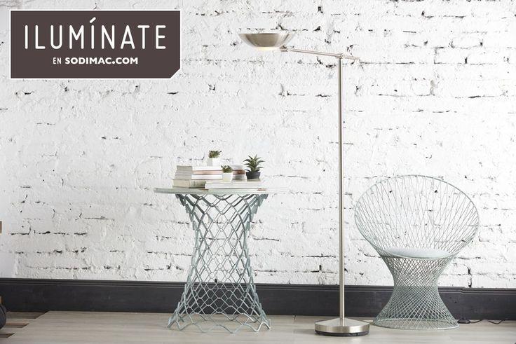 Las lámparas modernas, al componerse en gran parte por metal, combinan perfectamente con muros de ladrillos y materiales crudos. #Sodimac #Homecenter #SodimacHomecenter
