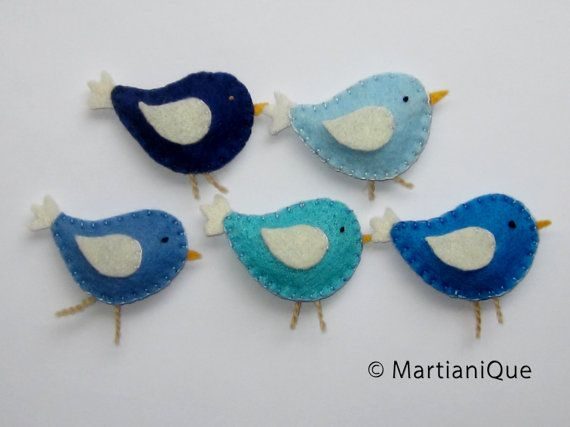 Blue Birds Mobile by Martianique on Etsy, $35.00