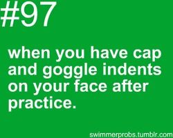 "Haha yeah, I look in the mirror after every practice and think ""dang. I have never felt so attractive. Not."" :P"