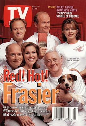 Classic TV Guide Covers | Frasier: TV Guide Cover For October 3, 1998 - Sitcoms Online Photo ...
