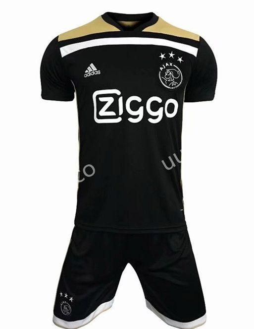 31507e7a 2018-19 Ajax Away Black Soccer Uniform | Ajax Jersey | Soccer ...