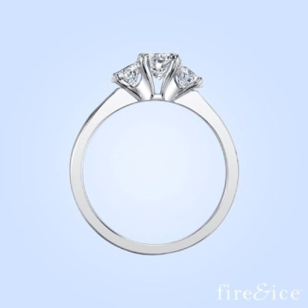 Get This Amazing 3 Stone Fire And Ice Engagement Ring At David Hayman Jewellers