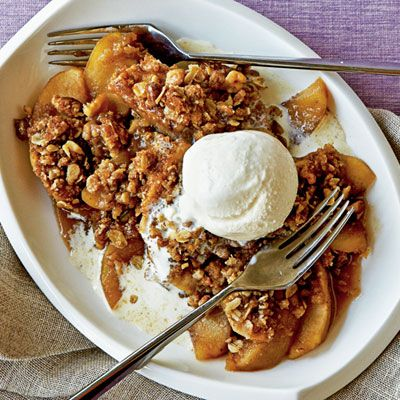 Maple-Walnut Apple Crisp.  DELICIOUS!  No one will guess it's from Cooking Light!