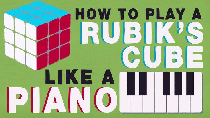 Group theory 101: How to play a Rubik's Cube like a piano.